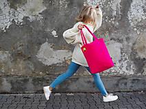 Nákupné tašky - Ružová ToTe taška, MAGENTA - 12953077_