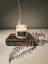 Svietidlá a sviečky - Sviečka z kokosového vosku - eukalyptus - 12953574_