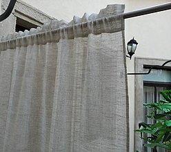 Úžitkový textil - Záclona 100% ľan - šitie na želanie - 12953860_