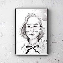 Kresby - Print-portrét - 12951171_