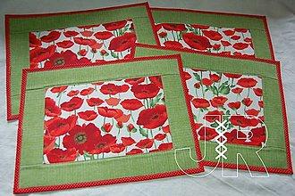 Úžitkový textil - maky na stole - 12951421_