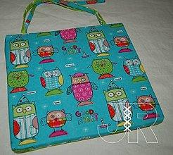 Úžitkový textil - podsedák sova - 12953036_
