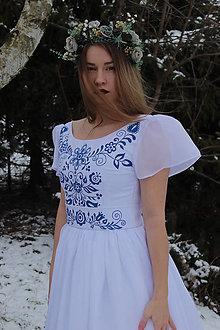 Šaty - Ručne maľované svadobné šaty - 12951170_
