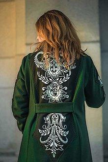 Kabáty - Ručne maľovaný kabát - 12954040_