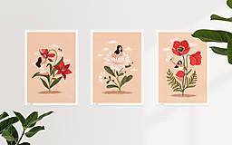 Grafika - Liliová panenka - umělecký tisk, A4 - 12957415_