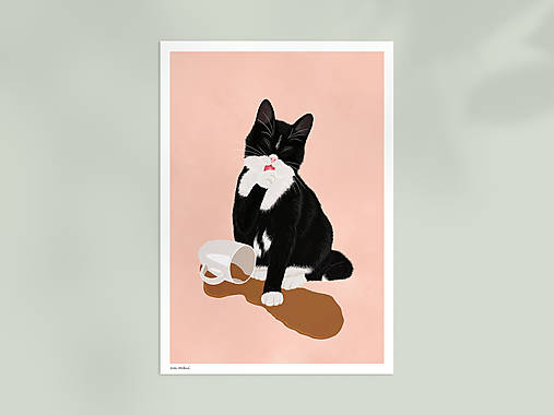 Kotě - umělecký tisk