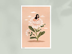 Grafika - Asterová panenka - umělecký tisk, A4 - 12957408_