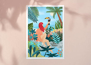 Grafika - Tukan - umělecký tisk, A4 (A4 Archivní papír) - 12957628_