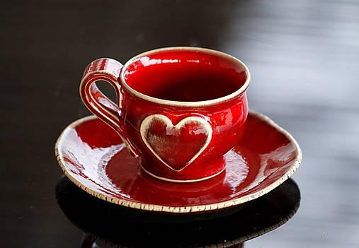 Keramická šálka so srdiečkom Espresso 50 ml