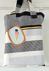 """Nákupné tašky - Nákupná taška - """"Zmrzka"""" - UPCYLINE - 12959536_"""