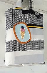 """Nákupné tašky - Nákupná taška - """"Zmrzka"""" - UPCYLINE - 12959538_"""