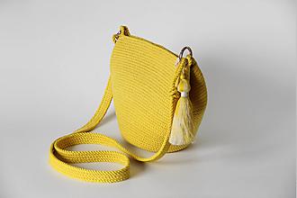 Kabelky - Provazová kabelka žlutá - 12955987_