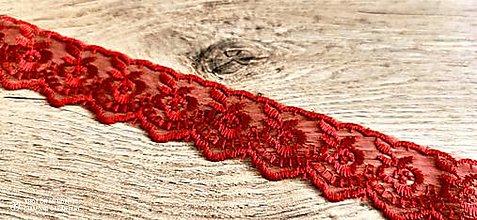 Galantéria - Čipka organzová 45 mm (Červená) - 12958280_