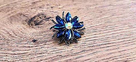 Galantéria - Ozdobná aplikácia - 42 mm - Modrá - 12958412_