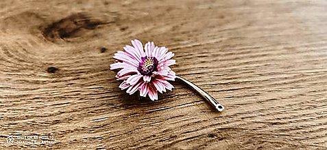 Galantéria - Aplikácia Margarétka ružová - 12959201_