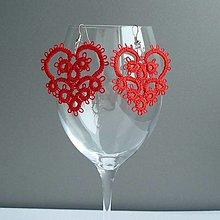Náušnice - Valentínky - 12957521_