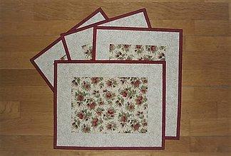 Úžitkový textil - Prestieranie s ružičkami - 12960470_