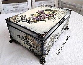 Krabičky - VINTAGE biela šperkovnica - 12960318_