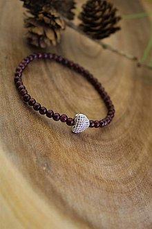 Náramky - granát valentínsky náramok - 12959862_