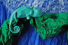 Brošne - Chameleón tyrkysový - 12958573_