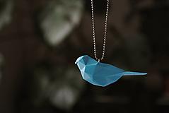 Náhrdelníky - Vtáčik prívesok tyrkysový - 12958668_