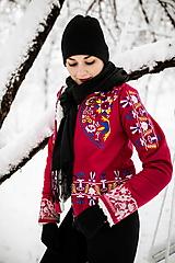 Kabáty - vyšívaná bunda Slavianka - 12956139_