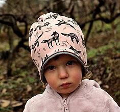 Detské čiapky - Vĺčko - 12960777_