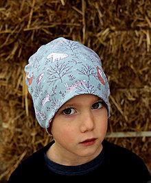Detské čiapky - Zvieratká ... dvojvrstvová čiapka - 12960803_