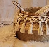 Košíky - ZERO WASTE košík z morskej trávy BELLA - 12957894_