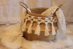 Košíky - ZERO WASTE košík z morskej trávy BELLA - 12957896_