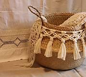 Košíky - ZERO WASTE košík z morskej trávy BELLA - 12957898_