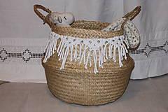 Košíky - Košík z morskej trávy KIONA - 12958017_