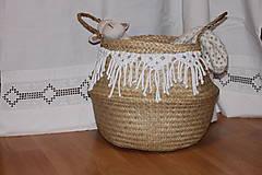 Košíky - Košík z morskej trávy KIONA - 12958018_