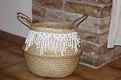 Košíky - Košík z morskej trávy KIONA - 12958031_