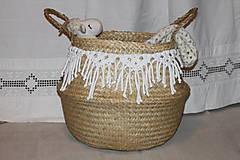Košíky - Košík z morskej trávy KIONA - 12958032_