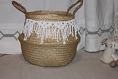 Košíky - Košík z morskej trávy KIONA - 12958035_