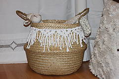 Košíky - Košík z morskej trávy KIONA - 12958038_