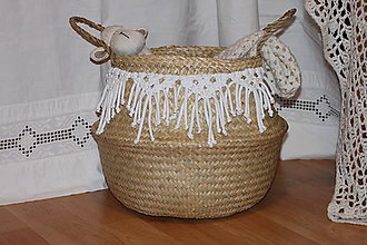 Košíky - Košík z morskej trávy KIONA - 12958014_