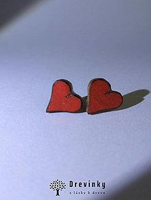 """Náušnice - Náušnice """"valentínske srdiečko"""" - 12958606_"""