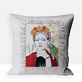 Úžitkový textil - Ľanová umelecká obliečka na vankúš - 12958852_