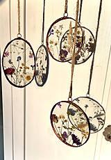Dekorácie - Závesné dekorácie s lúčnymi kvetmi  (12 cm ovál) - 12958613_