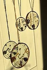 Dekorácie - Závesné dekorácie s lúčnymi kvetmi  (12 cm ovál) - 12958615_