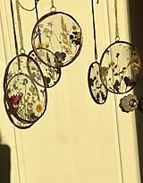 Dekorácie - Závesné dekorácie s lúčnymi kvetmi  (12 cm ovál) - 12958616_