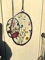 Dekorácie - Závesné dekorácie s lúčnymi kvetmi  (12 cm ovál) - 12958617_