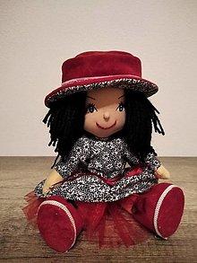 Hračky - Bábika- Červený Klobúčik + darček zdarma - 12958281_