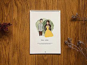 Papiernictvo - Nedatovaný partnerský kalendár - 12956993_