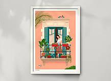 Grafika - Barcelona - umělecký tisk (A4 Archivní papír) - 12962654_