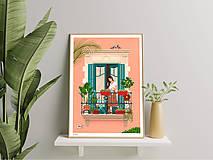 Grafika - Barcelona - umělecký tisk (A4 Archivní papír) - 12962655_