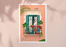 Grafika - Barcelona - umělecký tisk (A4 Archivní papír) - 12962656_