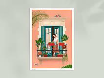 Grafika - Barcelona - umělecký tisk (A4 Archivní papír) - 12962658_
